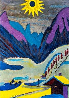 """""""Winterberge mit Nebelwolke"""", 1928/29, 90 x 64cm   Ergebnis: € 480.000  183. Kunstauktion"""