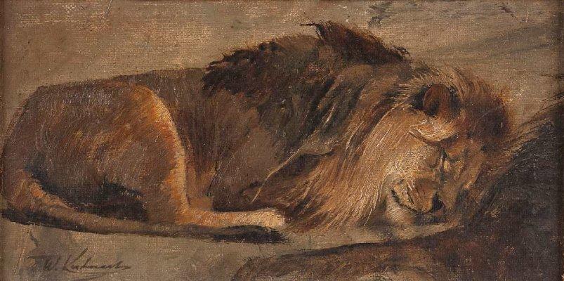 Wilhelm Kuhnert, Schlafender Löwe