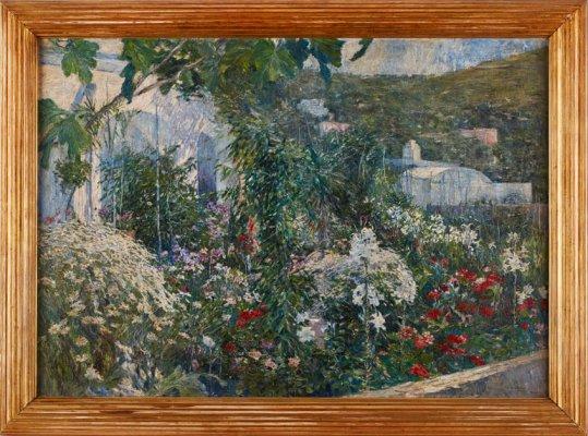 "Friedrich Stahl, 1863 München - 1940 Rom, ""Capri"" sign., dat. u. bez. Friedr. Stahl Capri 1908, Öl/Lwd., 85,5 x 121 cm"