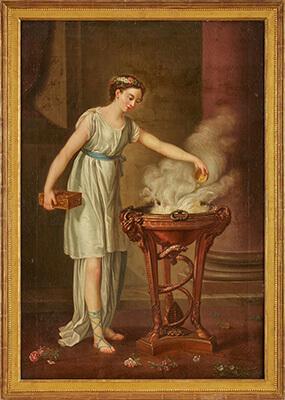 """Joseph-Marie Vien, Werkstatt des """"L'Hiver"""" um 1800"""